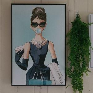 Oliver Gal Audrey Hepburn Bubblegum